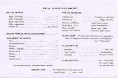 Commencement Special Honors ∓ Awards